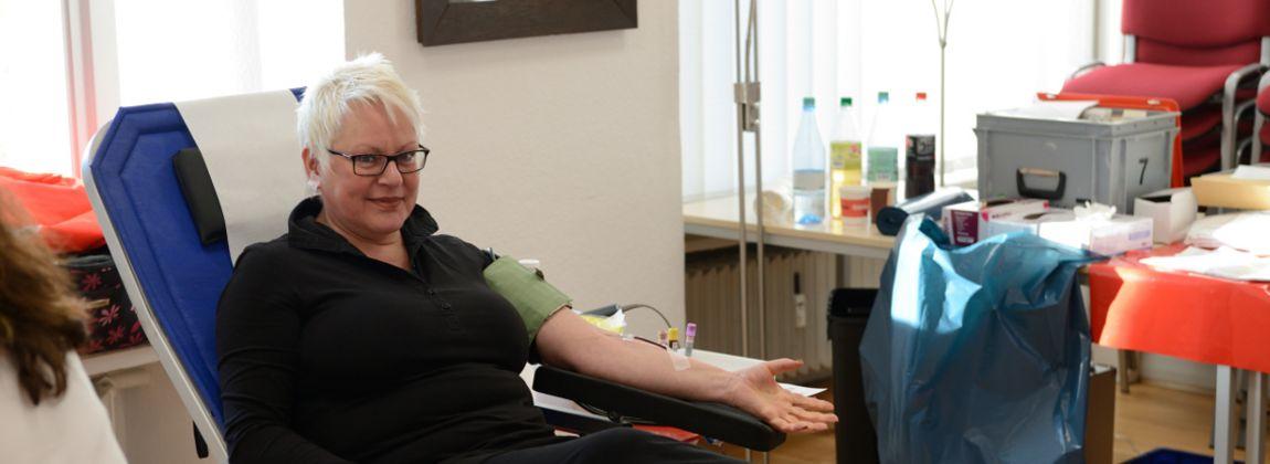 Helfen Sie mit Ihrer Blutspende